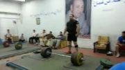 بهداد سلیمی در سالن نامجوی اکباتان، 260 کیلو