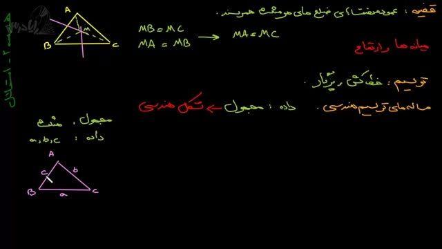 آموزش هندسه دوم دبیرستان-استدلال