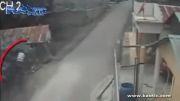 تصادف شدید موتورسیکلت