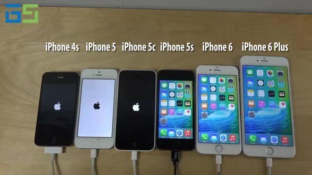 مقایسه آیفون ها در سیستم عامل iOS