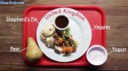 غذاهای مدرسه در نقاط مختلف جهان. برتر جهان