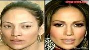 جنیفر لوپز قبل و بعد از آرایش!!