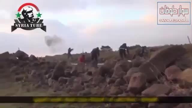 کشته شدن داعشی در درگیری با رزمندگان ارتش سوریه!