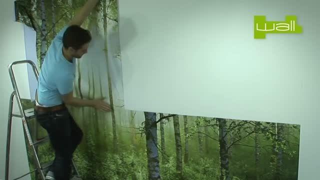 طریقه نصب کاغذ دیواری OneWall