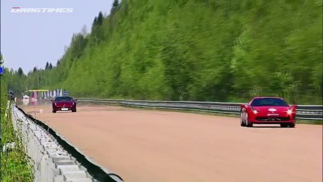درگ کورس فراری 599 با پورشه 911 ،نیسان ،بی ام دبلیو و..