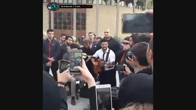 اجرای خیابانی مجید خراطها به مناسبت نوروز 94