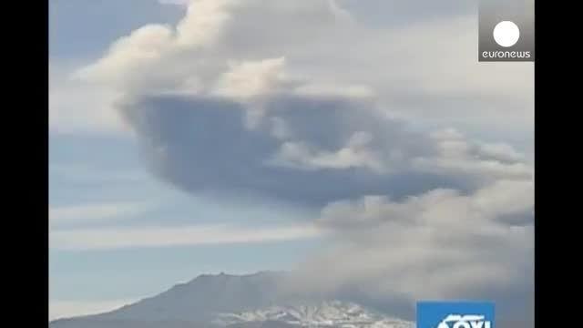 آتشفشان اوبیناس در پرو فوران کرد