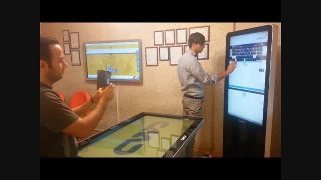کیوسک لمسی، کامپیوتر لمسی و میز لمسی در ShowRoom  کاواک
