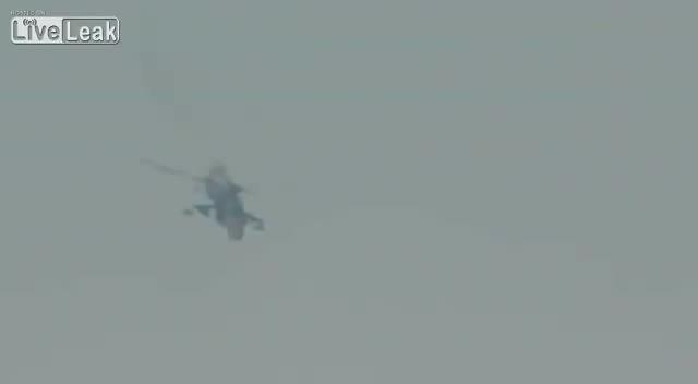 حمله هلیکوپتر MIL MI 24 ارتش سوریه به تروریست ها