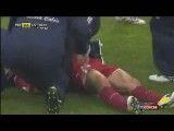 صحنه مرگ بازیكن لیورنو در زمین فوتبال
