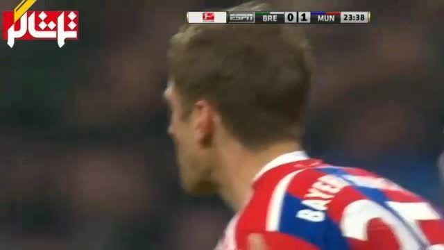 خلاصه بازی : بایرن مونیخ 4 - 0 وردربرمن ( ویدیو )