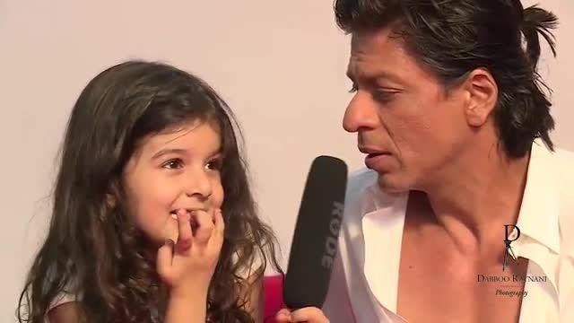 مصاحبه شاهرخ خان با دختر کوچولو ناز 2014