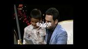 نامه خوانی بچه هفت ساله به کمک احسان علیخانی