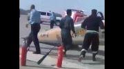 فرود اضطراری هواپیمای F-5 در فرودگاه دزفول