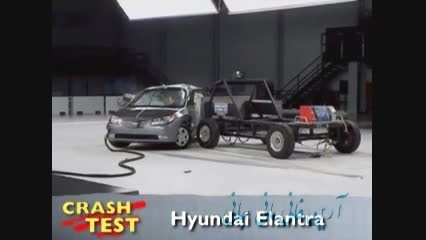 تست تصادف Hyundai Elantra crash test