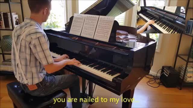 کاور پیانو از آهنگ زیبای Elton John