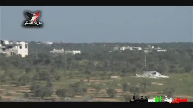 جسرالشغور - انهدام تانک النصره توسط موشک حرارتی