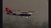 پرواز در هوای ابری انگلستان