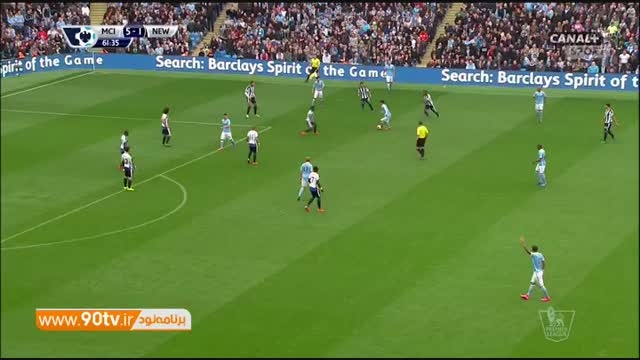 خلاصه بازی: منچسترسیتی ۶-۱ نیوکاسل
