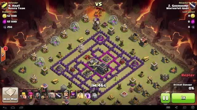 Clash of Clans - TH9 - GoHo - War 63 vs Russia Team