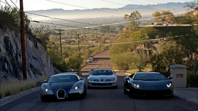 Bugatti Veyron vs Laborghini Aventador vs SLR Mclaren