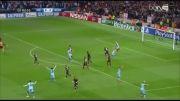 خلاصه بازی منچستر سیتی(1-1)رم - نیمه اول
