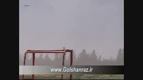 فیلم طوفان نمکی دریاچه ارومیه-گلشن راز شبستر