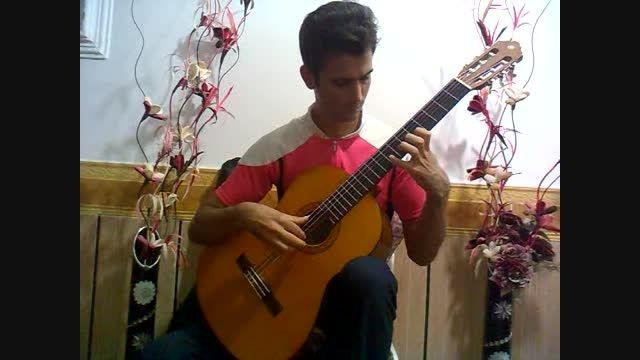 اهنگ پلنگ صورتی با  گیتار کلاسیک نوازنده سیدحسین رحیمی