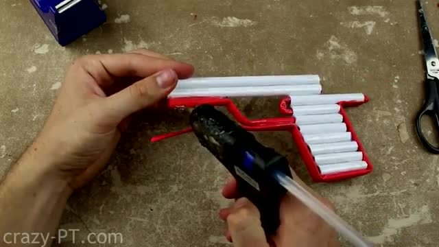 (آموزش ساخت)ساخت یک اسحله باکاغذ(شلیک سه مدل گلوله)