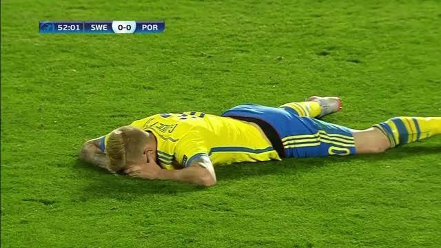 خلاصه بازی : پرتغال 0 (3) - (4) 0 سوئد (یورو زیر 21سال)