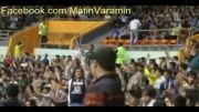 هواداران متین ورامین در سالن 12 هزار نفری آزادی