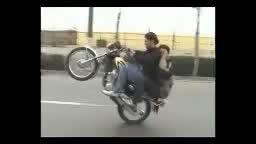 تک  چرخ زدن با موتور ایرانی