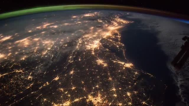 طلوع خورشید - فیلمبرداری شده از ایستگاه فضایی جهانی