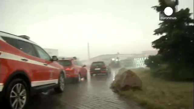 آلمان و طوفان و سیلاب و گردباد در تابستان