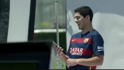 تبلیغات جدید بارسا برای گوشی موبایل با حضور مسی و نیمار