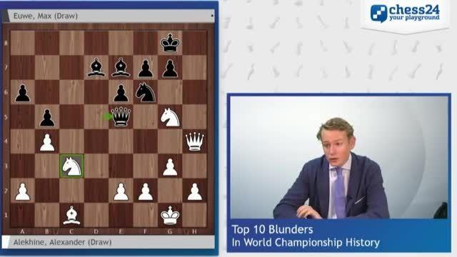10 اشتباه بزرگ در تاریخ رقابت های قهرمانی شطرنج جهان