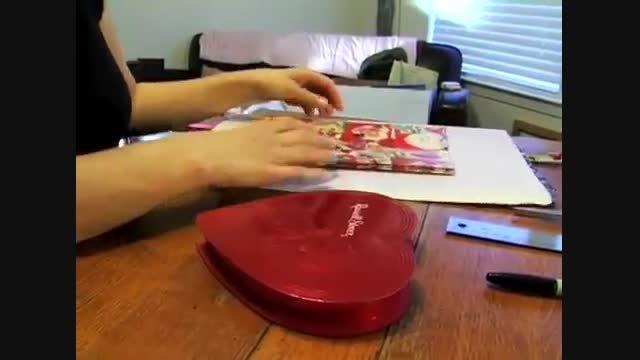 ساخت جعبه هدیه به شکل قلب
