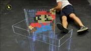 کشیدن نقاشی ماریو سه بعدی
