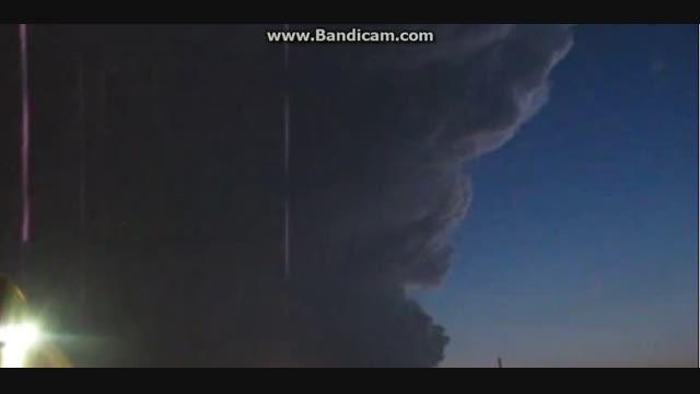 ابر ها و طوفان عجیب در آمریکا