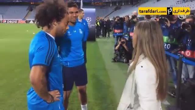 دیدار ستاره فوتبال بانوان جهان با کریستیانو رونالدو