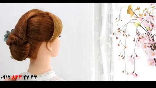 کلیپ آموزش شینیون ساده مو + دیزاین مو