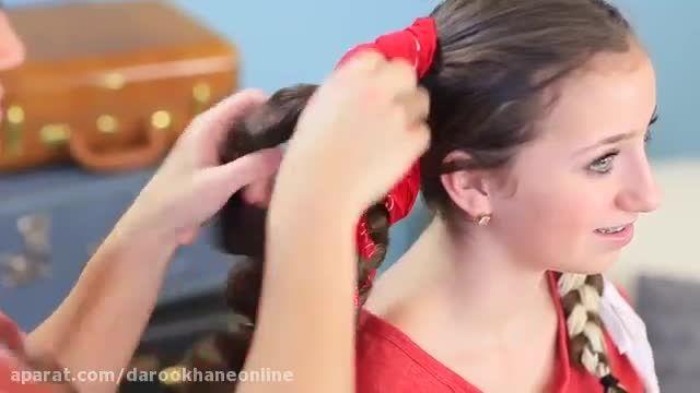 فیلم آموزش انواع مدل مو 2020 - فر کردن مو با دستمال سر | مدل شبانه