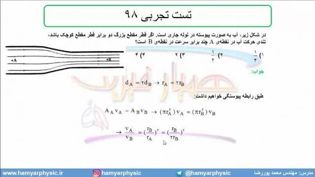 جلسه 108 فیزیک دهم - شاره در حرکت 7 - تست تجربی 98 - مدرس محمد پوررضا