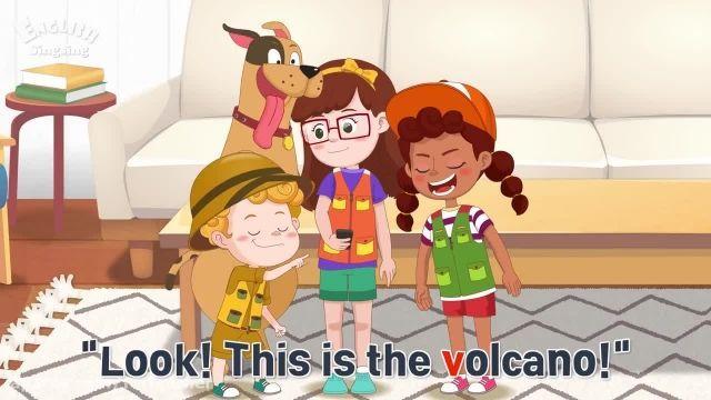 دانلود انیمیشن موزیکال آموزش زبان انگلیسی به کودکان - قسمت حرف V