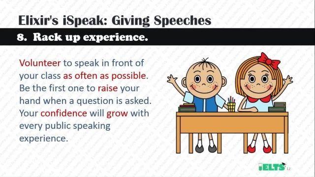 دانلود رایگان دوره کامل آموزش IELTS - تیپ های Giving Speeches اسپیکینگ قسمت 1
