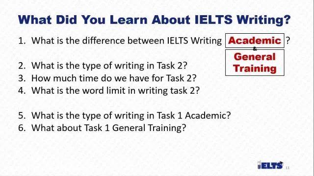 دانلود رایگان دوره کامل آموزش IELTS - معرفی رایتینگ آیلتس