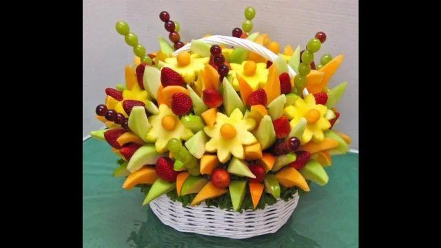آموزش میوه آرایی وتزیین سبد میوه