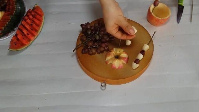 آموزش میوه ارایی زیبا وساده مخصوص شب یلدا