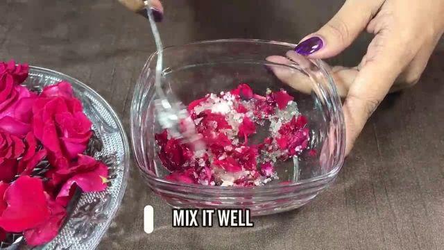 نکات آرایشی برای پوست - ماسک نرم کننده گلبرگ