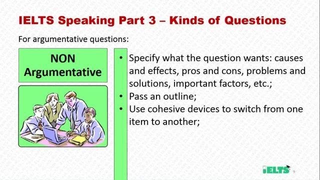 دانلود رایگان دوره کامل آموزش IELTS -  نحوه پاسخگویی به سوالات Non Argumentative